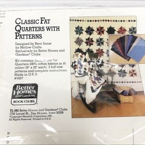 Vintage Fat Quarters Fabric and Quilt Patterns